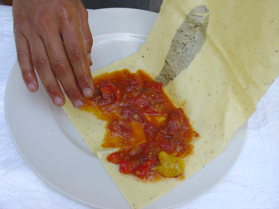 Folded pasta recipe, Ziggizagna