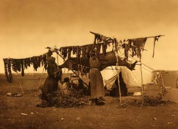 Sioux drying meat