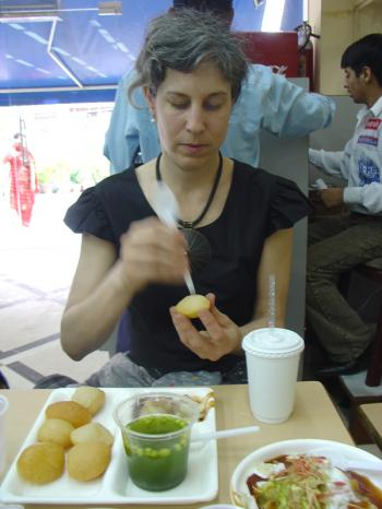 Golgappa at Evergreens in Delhi's Greenpark