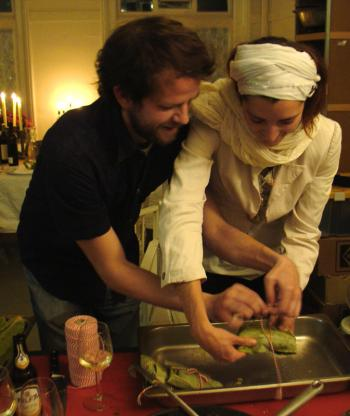 Zvoni and Iva prepare the indonesian gefilte fish