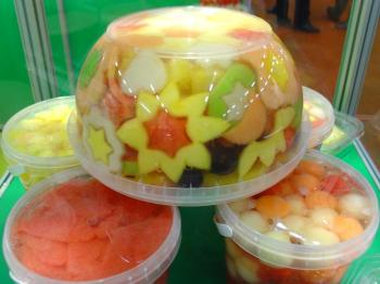 Fruitbowl at the FRESH food fair in Rotterdam