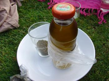 Olive oil and za'atar from the village of Ein Hud in Israel, Debra Solomon for culiblog.org