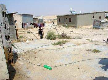 Unrecognised Arab villages in the Negev, electrical lines in the Bedouin township, Debra Solomon, culiblog.org
