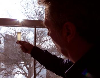 John Thackara of Doors of Perception inspects the turgid result of 2 days of kefir fermentation