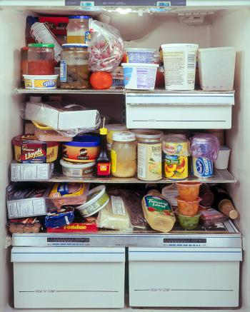 The amusement park owner's fridge from a series by Mark Menjivar, You Are What You Eat.